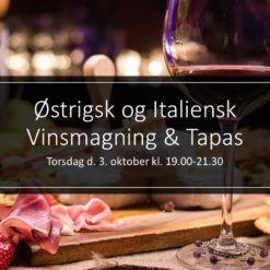 Østrigsk og Italiensk Vinsmagning & Tapas