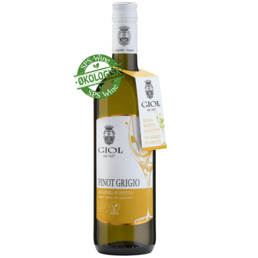 Giol Pinot Grigio Økologisk Hvidvin, Veneto Italien - uden sulfitter